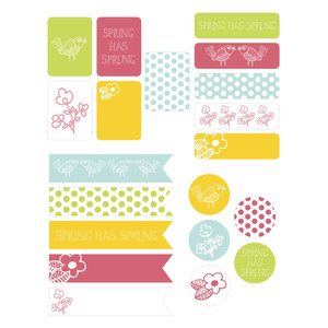 spring has sprung planner stickers