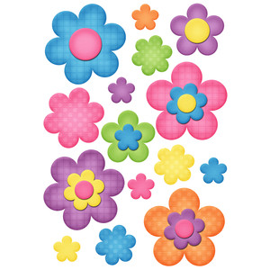 happy flower planner stickers