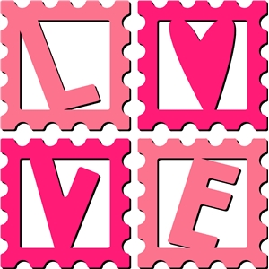love word stamps set