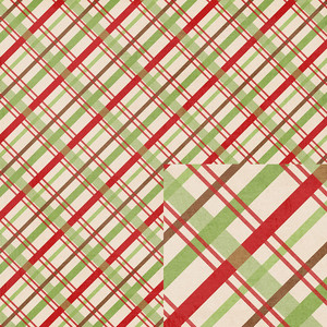 plaid christmas paper