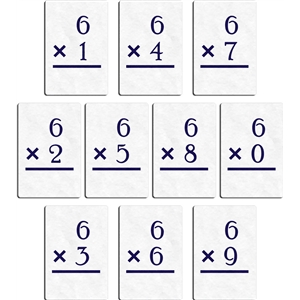 flashcard - multiply 6