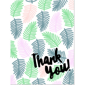tropical flat thank you card