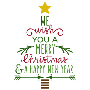 Silhouette Design Store - View Design #230390: we wish you a merry ...