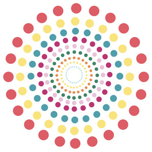 circle dot rings background