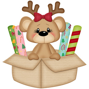 christmas bear in box