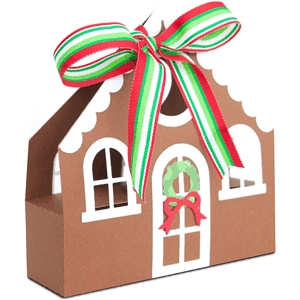 gingerbread house treat box tote