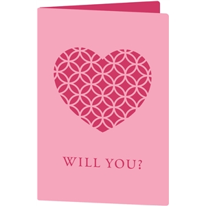 will you valentine card