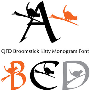 qfd broomstick kitty monogram font