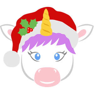 christmas unicorn face