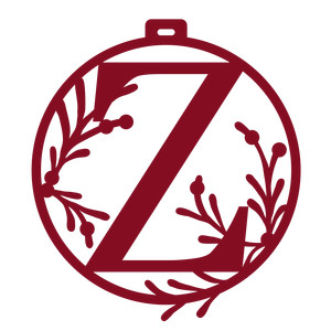 christmas ornament monogram z