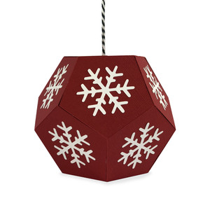 snowflake hexagon ornament