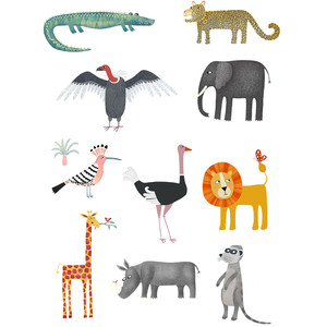 african wildlife animal stickers