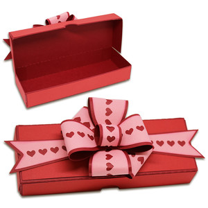 hinged heart bow box