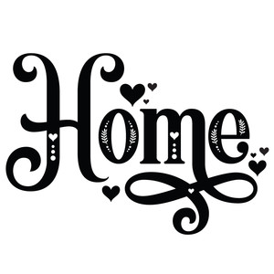 home decorative word
