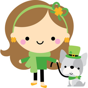 girl & dog - lots o' luck