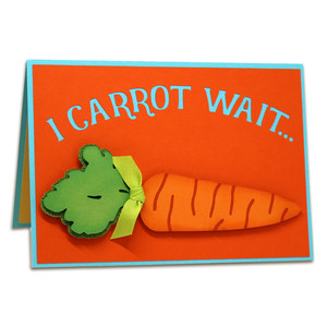 carrot pop-up card