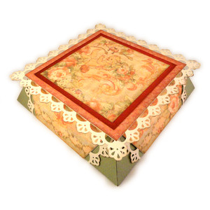 box large square 3d lace inverted sides