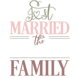 just married family sign