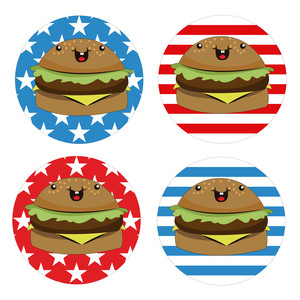 burger stickers
