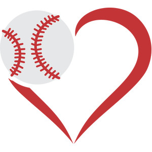 baseball ball and heart