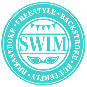 swim word label
