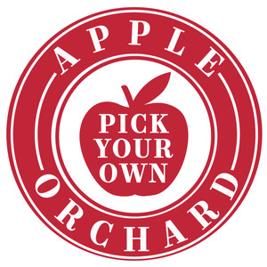 apple orchard pick label