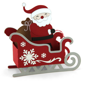 box card christmas sleigh