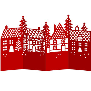 christmas village accordion card