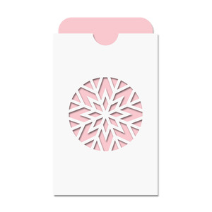 snowflake pocket card w insert