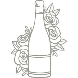 wine bottle floral