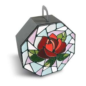 gift box with stained glass rose