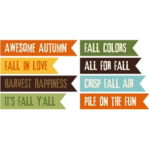 8 print & cut fall flags