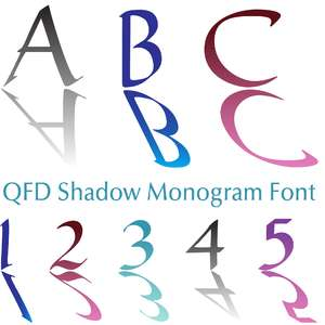 qfd shadow monogram font
