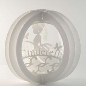 3 layered pop up sphere cinderella