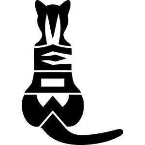 cat meow silhouette