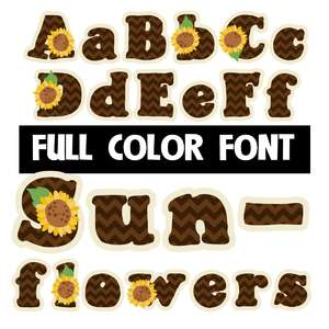 sunflowers color font