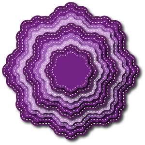 nested stitched doily