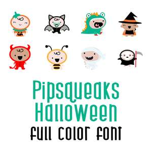 pipsqueaks halloween full color font