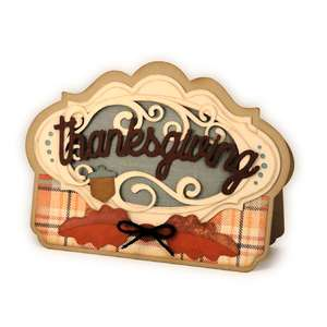 thanksgiving card oval window flourish