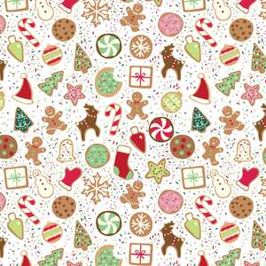 holiday cookies pattern