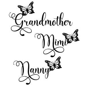 grandmother mimi nanny butterfly words