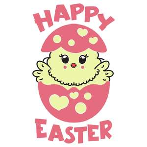 happy easter baby chick