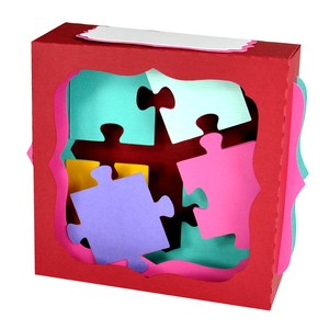 puzzling gift card box