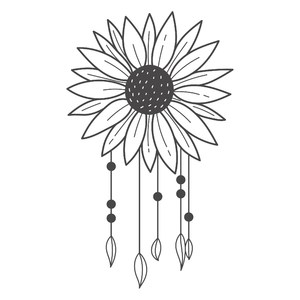 sunflower boho dreamcatcher
