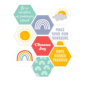 rainbow sun hope stickers
