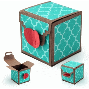 3d heart lock box