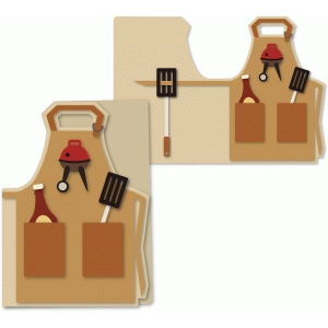 a7 griller's apron card 5x7