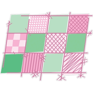 pink quilt squares