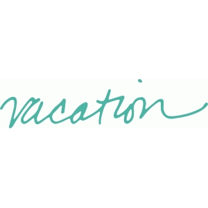'vacation' handwritten phrase