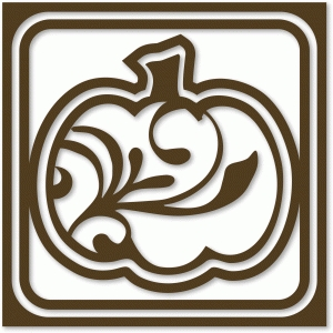 flourished pumpkin tile